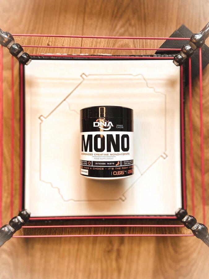 Kreatīns DNA MONO Micronised Creatine Monohydrate orange 250 g