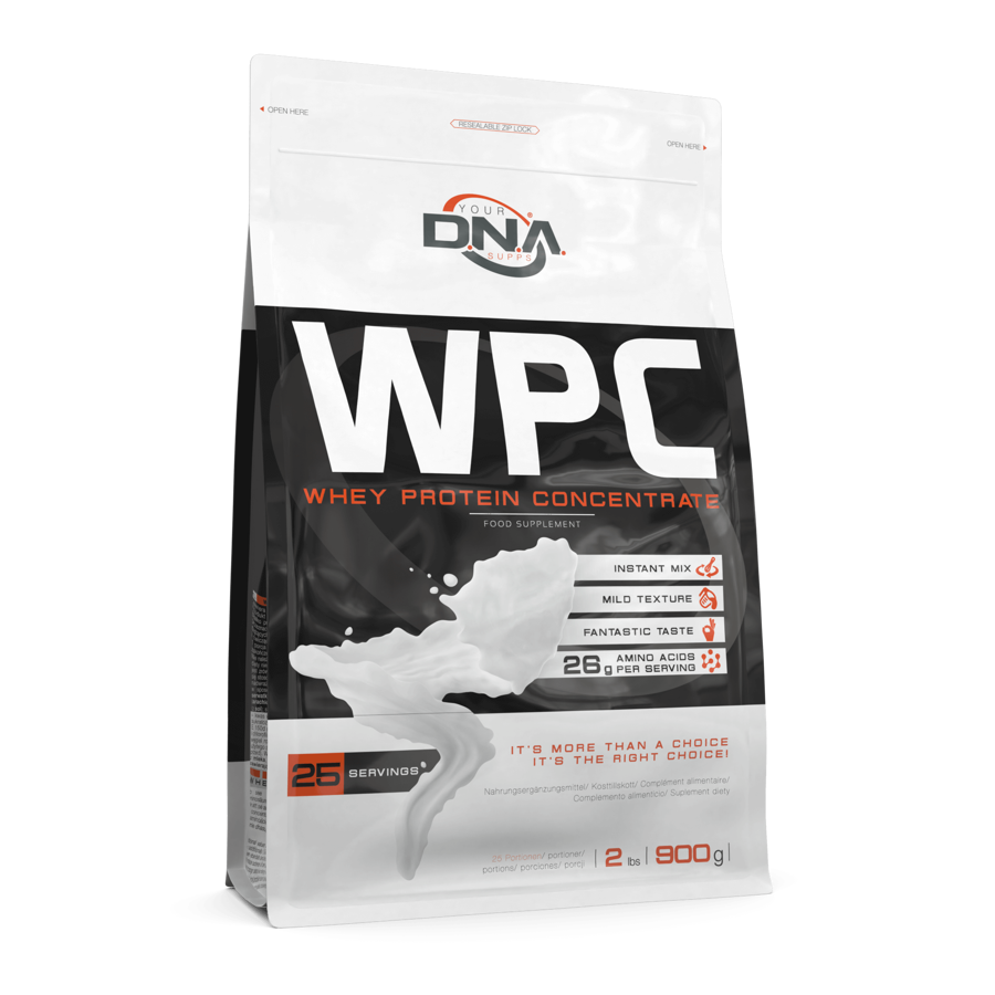 Proteīna pulveris DNA WPC white chocolate 0.9 kg