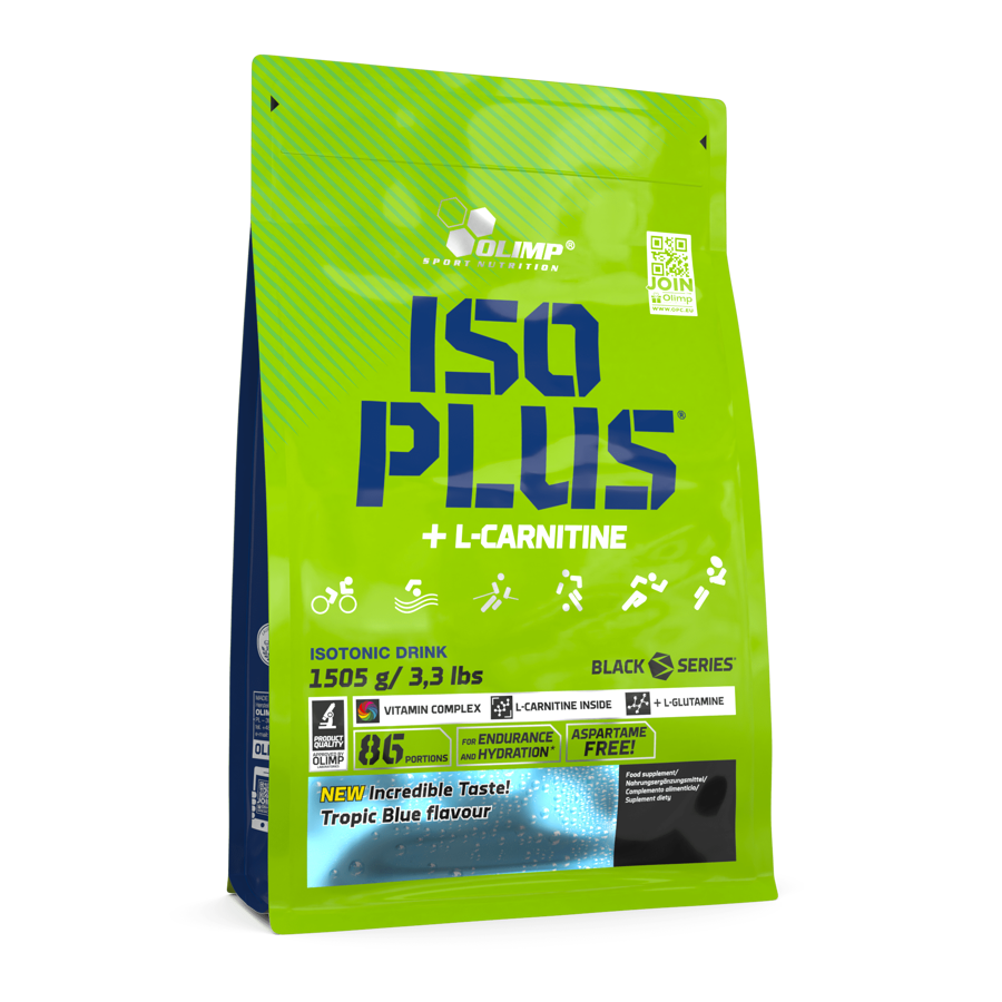 Izotonisks dzēriens Iso Plus powder Olimp Sport Nutrition 1505g tropic blue