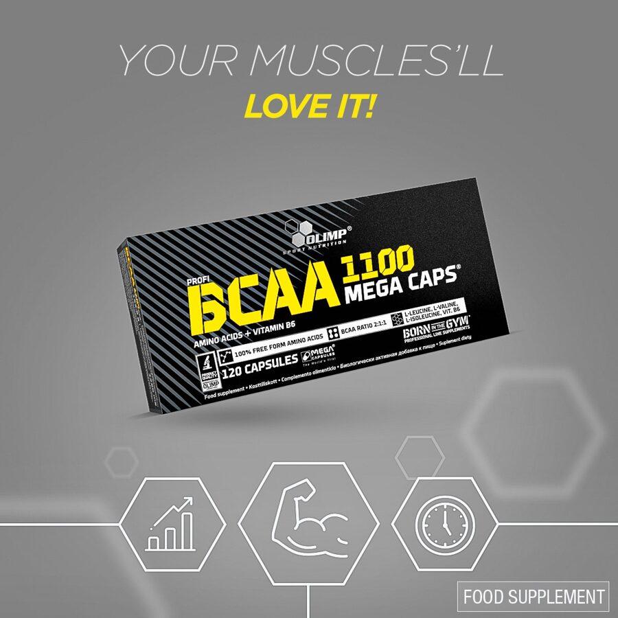 BCAA 1100 Olimp Sport Nutrition Mega Caps® 120 kapsulas