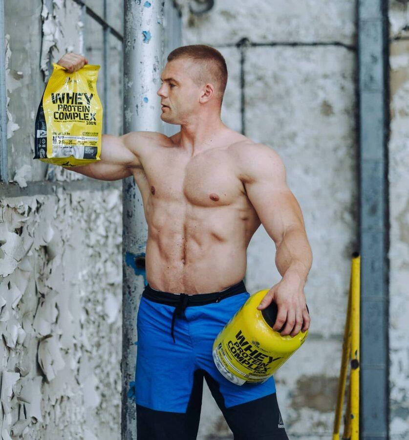 Proteīna pulveris Olimp Sport Nutrition Whey Protein Complex 100% lemon cheesecake 700 g