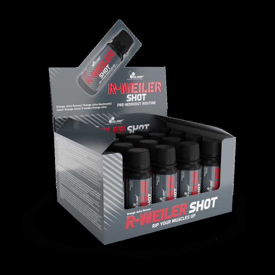Enerģijai R-Weiler Shot Olimp Sport Nutrition box (20 x 60 ml) orange juice