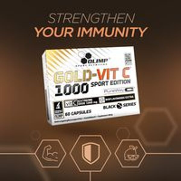 C vitamīns GOLD-VIT C 1000 SPORT EDITION Olimp Sport Nutrition 60 kapsulas