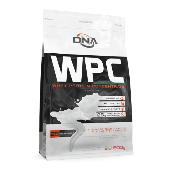 Proteīna pulveris DNA WPC vanilla 0.9 kg