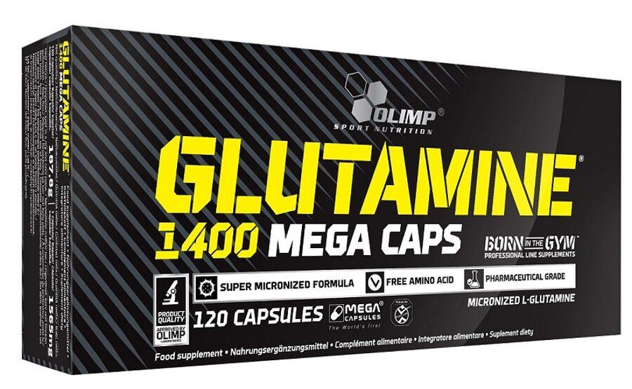 Glutamīns, Olimp Sport Nutrition Glutamine 1400, 120 kapsulu