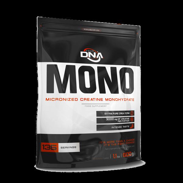 Kreatīns DNA MONO Micronised Creatine Monohydrate orange 500 g